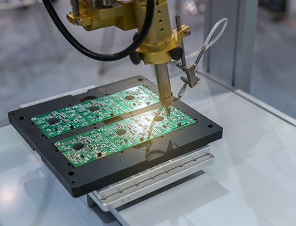 Robotic technology soldering circuit board