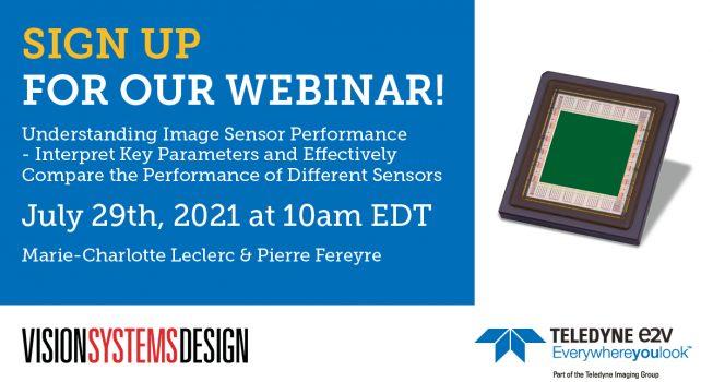 July 29th Webinar: Understanding Image Sensor Performance